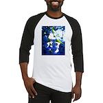 Apple Blossom Blues Baseball Jersey