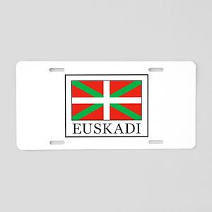 Euskadi Aluminum License Plate