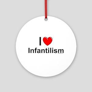 Infantilism Round Ornament