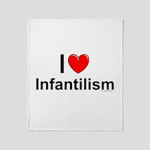 Infantilism Throw Blanket