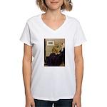 Whistler's / Chow #1 Women's V-Neck T-Shirt