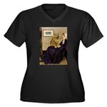 Whistler's / Chow #1 Women's Plus Size V-Neck Dark