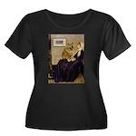 Whistler's / Chow #1 Women's Plus Size Scoop Neck