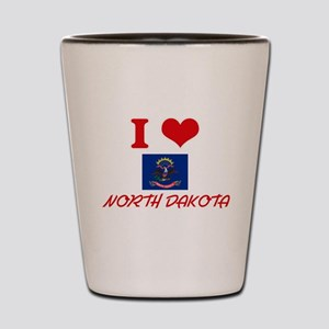 I Love North Dakota Shot Glass