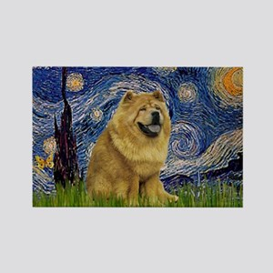 Starry / Chow #! Rectangle Magnet