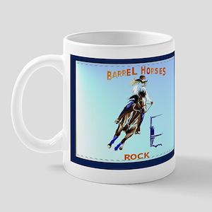 Barrel Horses Rock Mug