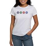 DharmaWheel Rainbow: Women's T-Shirt (printed F&B)