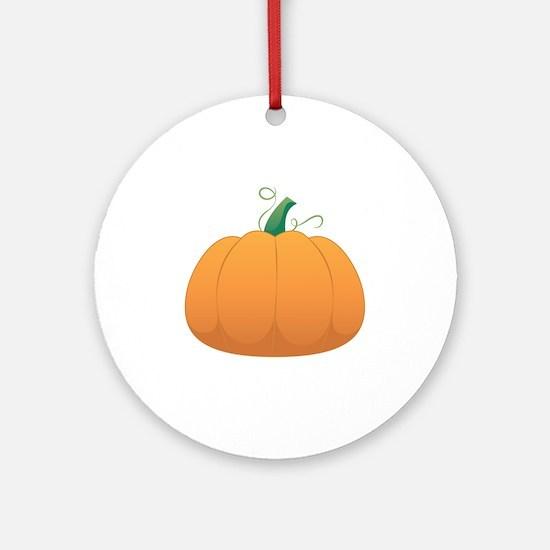 Pumpkin Round Ornament