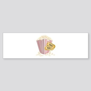 Movie Popcorn Bumper Sticker