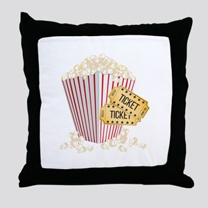 Movie Popcorn Throw Pillow