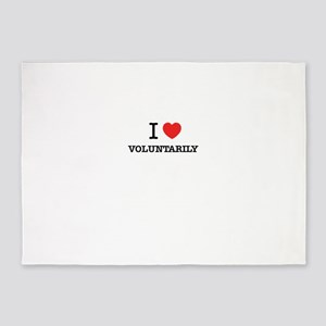 I Love VOLUNTARILY 5'x7'Area Rug