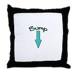 Bump (with Arrow) Throw Pillow