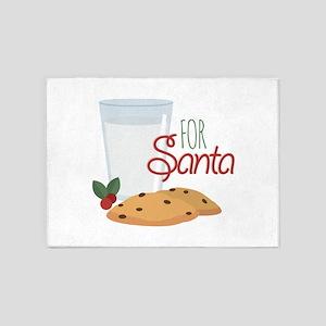 For Santa 5'x7'Area Rug