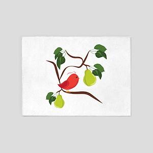 Partridge In Pear Tree 5'x7'Area Rug