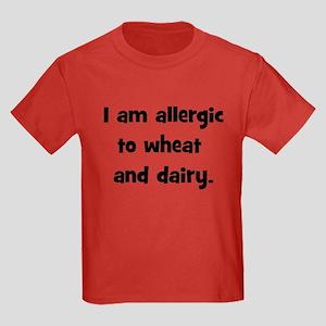 Allergic to Wheat & Dairy - B Kids Dark T-Shirt