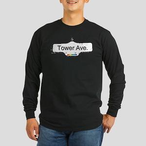 Tower Avenue Long Sleeve Dark T-Shirt