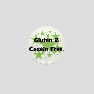 Gluten & Casein Free - stars Mini Button
