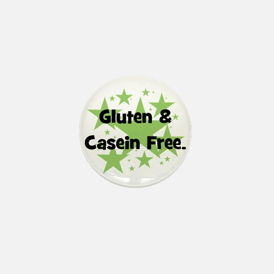 Gluten & Casein Free - stars Mini Button