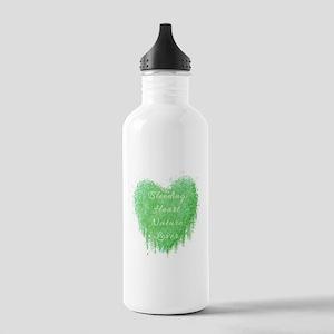 Bleeding Heart Green Stainless Water Bottle 1.0L