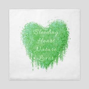 Bleeding Heart Green Queen Duvet