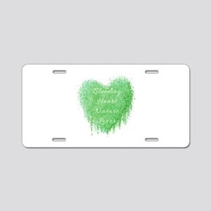 Bleeding Heart Green Aluminum License Plate