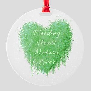 Bleeding Heart Green Round Ornament