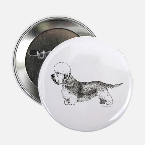 """Dandie Dinmont Terrier 2.25"""" Button"""