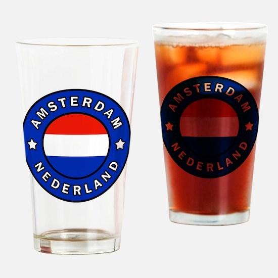 Cute Holland amsterdam Drinking Glass
