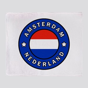 Amsterdam Netherlands Throw Blanket