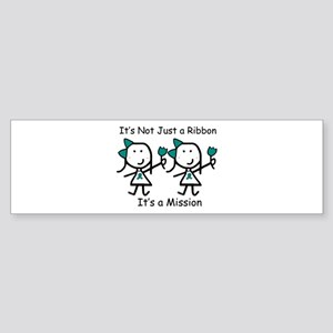 Teal Ribbon - Mission Sisters Bumper Sticker