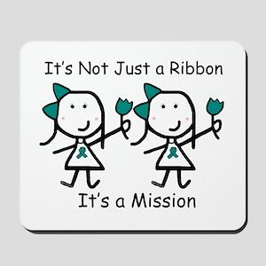 Teal Ribbon - Mission Sisters Mousepad