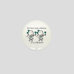 Teal Ribbon - Mission Sisters Mini Button