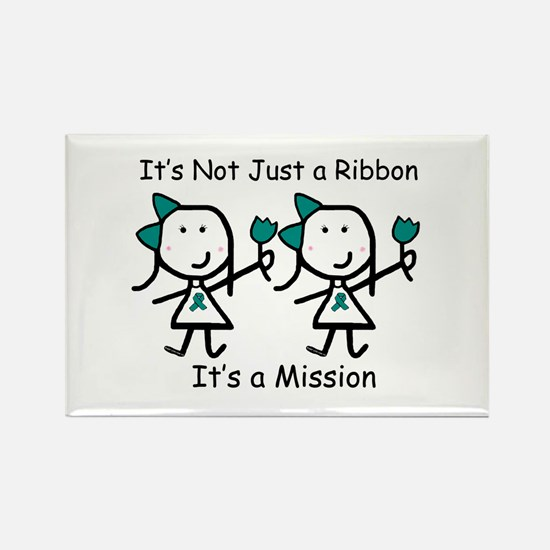 Teal Ribbon - Mission Sisters Rectangle Magnet