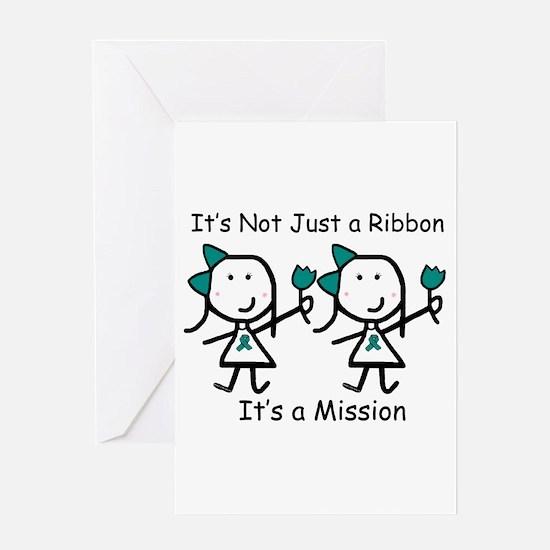 Teal Ribbon - Mission Sisters Greeting Card