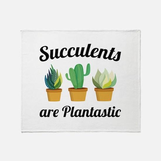 Succulents Are Plantastic Stadium Blanket