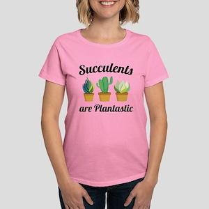 Succulents Are Plantastic Women's Dark T-Shirt