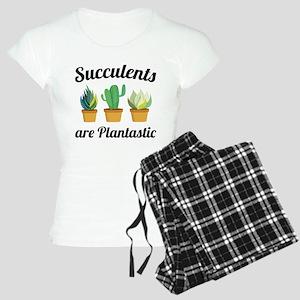 Succulents Are Plantastic Women's Light Pajamas