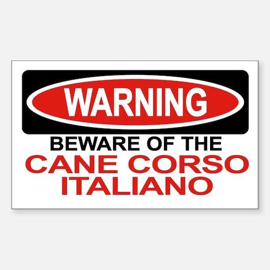 CANE CORSO ITALIANO Rectangle Decal