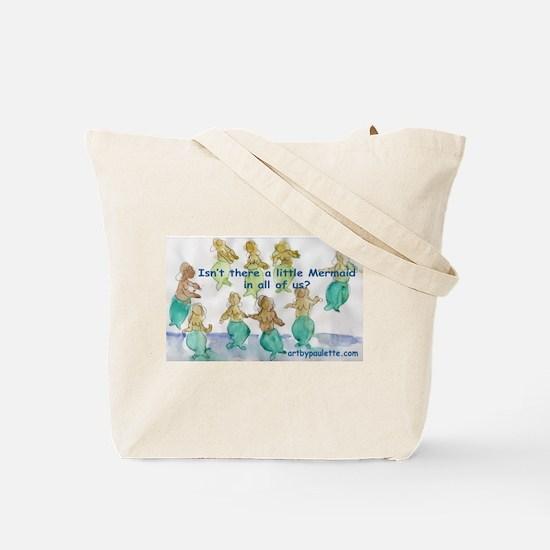 Mermaids Together / Little Mermaids Tote Bag