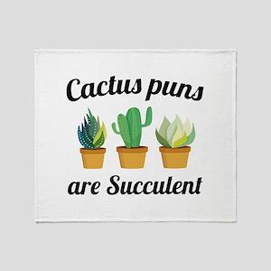 Cactus Puns Are Succulent Stadium Blanket