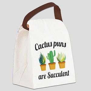 Cactus Puns Are Succulent Canvas Lunch Bag