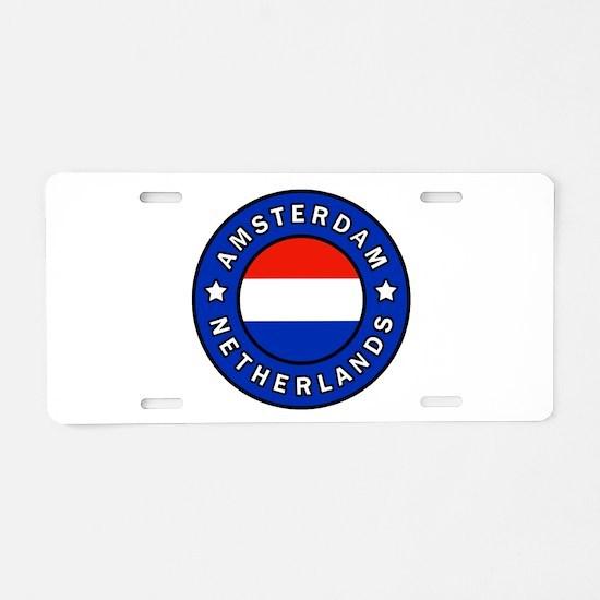Amsterdam Netherlands Aluminum License Plate