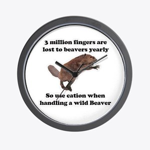 beaver humor gifts Wall Clock