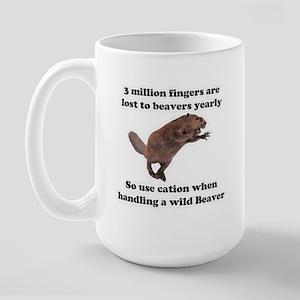 beaver humor gifts Large Mug