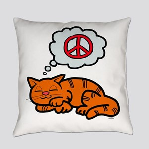 peace kitty Everyday Pillow