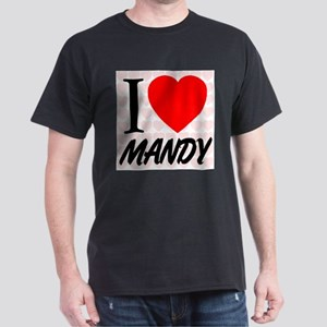 I Love Mandy Dark T-Shirt