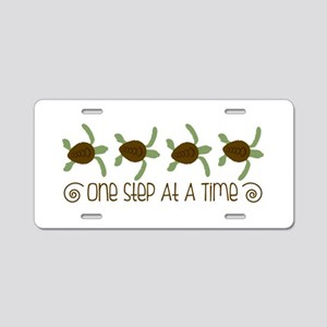 One Step Turtle Border Aluminum License Plate