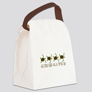 One Step Turtle Border Canvas Lunch Bag