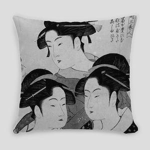Vintage Japanese Women Everyday Pillow