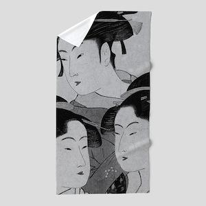 Vintage Japanese Women Beach Towel